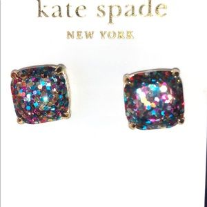 kate spade multicolor square stud earrings
